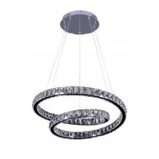 Подвесная светодиодная люстра с пультом Omnilux OML-46903-86 Zuari хром 86 Вт 4200К