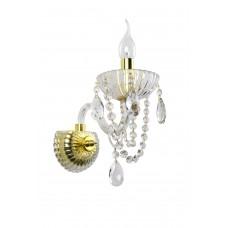 Хрустальное бра Omnilux OML-70101-01 Bonaita прозрачный+золото