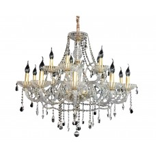 Хрустальная люстра подвесная хрустальная Omnilux OML-70103-15 Bonaita прозрачный+золото