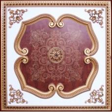 Панно 1010-109F ABR квадратное бронза антик/дерево тёмное