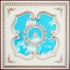 Панно 1010-022 AWT квадратное белый антик