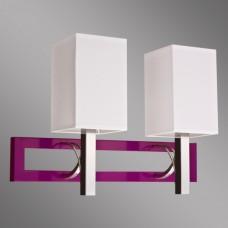Бра Kemar RIFFTA RF/K/2/V фиолетовый, хром