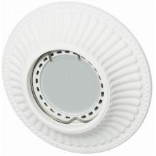 Светильник гипсовый Светкомплект AZT 15 WH (RD-015) ф112 мм белый
