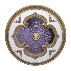 Панно 11R-110I ABR круглое бронза антик/зеркало фиолетовое