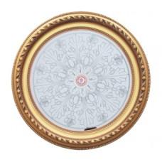 Панно 80RD-102A ABR круглое бронза антик/зеркало серебряное