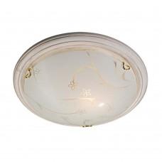 Светильник потолочный Сонекс Blanketa Gold 102/K матовый белый с рисунком