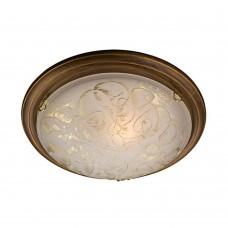 Светильник потолочный Сонекс Provence Brown 103/K матовый белый с рисунком