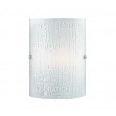 Настенный светильник Сонекс Grafika 1257 белый матовый с рисунком