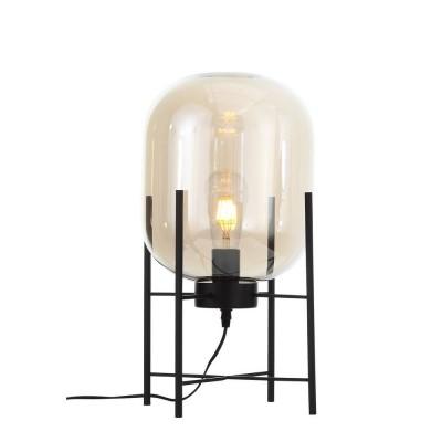 SL1050.505.01 Настольная лампа ST-Luce Черный/Коньячный E27 1*40W (из 2-х коробок)