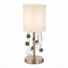 SLE107934-01 Настольная лампа Бронза/Бежевый E14 1*40W