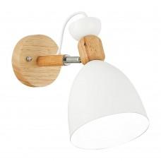 SLE103801-01 Светильник настенный Светлое дерево, Белый/Белый E27 1*60W