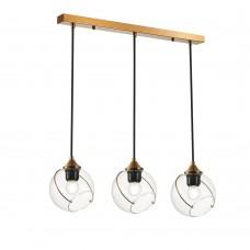 SLE103103-03 Светильник подвесной Золото/Прозрачный E27 3*60W