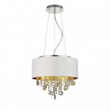 SL1350.503.04 Светильник подвесной ST-Luce Хром/Белый, Золотистый, Прозрачный E14 4*40W