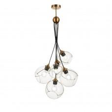 SLE103103-06 Светильник подвесной Золото/Прозрачный E27 6*60W