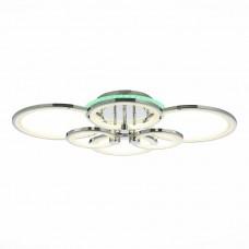 SLE200312-06RGB Светильник потолочный Хром/Белый LED 1*168W RGB 8W 3000-6000K