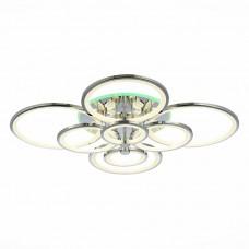 SLE200312-08RGB Светильник потолочный Хром/Белый LED 1*256W RGB 15W 3000-6000K