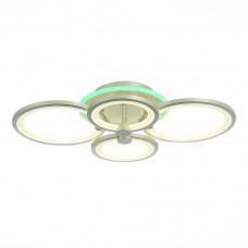 SLE200392-04RGB Светильник потолочный Серебристый/Белый LED 1*100W RGB 8W 3000-6000K