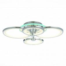SLE200312-04RGB Светильник потолочный Хром/Белый LED 1*100W RGB 8W 3000-6000K