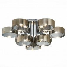 SL483.702.09 Светильник потолочный Хром/Дымчатый E27 9*40W