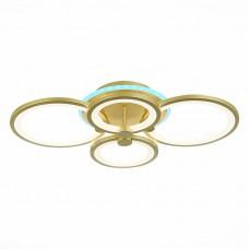 SLE200322-04RGB Светильник потолочный Золото/Белый LED 1*100W RGB 8W 3000-6000K