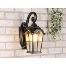 Уличный настенный светильник Elektrostandard Mira D черное золото