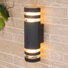 Уличный настенный светильник Elektrostandard 1443 TECHNO черный