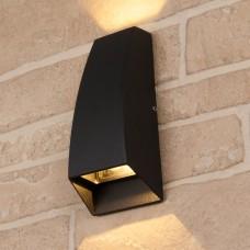 Уличный настенный светодиодный светильник Elektrostandard 1016 TECHNO черный