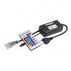 Контроллер для гибкого неона RGB LS001 220V 5050 с ПДУ (ИК) IP20 LSC 011