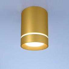 Потолочный светодиодный светильник DLR021 9W 4200K золото матовый