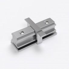 Коннектор прямой для однофазного встраиваемого шинопровода (серебристый) TRCM-1-I-CH