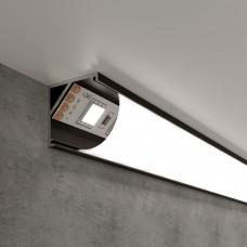 Угловой алюминиевый профиль черный/белый для светодиодной ленты LL-2-ALP008