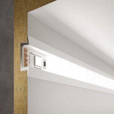 Встраиваемый алюминиевый профиль белый/белый для светодиодной ленты LL-2-ALP007
