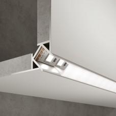 Встраиваемый угловой алюминиевый профиль (внешний угол) для светодиодной ленты LL-2-ALP015
