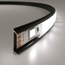 Гибкий алюминиевый профиль черный/белый для светодиодной ленты LL-2-ALP012