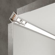 Встраиваемый угловой алюминиевый профиль (внутренний угол) для светодиодной ленты LL-2-ALP014