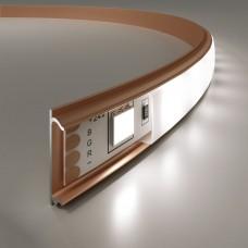 Гибкий алюминиевый профиль латунь/белый для светодиодной ленты LL-2-ALP012