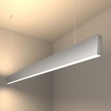Линейный светодиодный подвесной двусторонний светильник 128см 50Вт 4200К матовое серебро 101-200-40-128