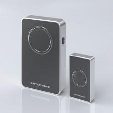 Звонок беспроводной 38M IP20 DBQ27M WL Чёрный/Серебро