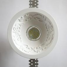 Врезной гипсовый светильник SV 7429 ф140 мм