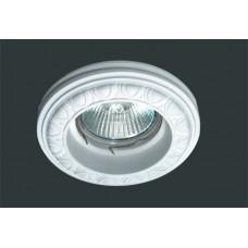 Гипсовый светильник SvDecor SV 7009 белый ф92 мм
