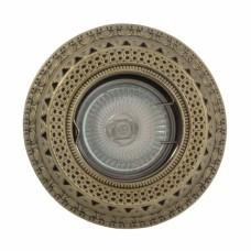 Гипсовый светильник SvDecor SV 7055 AB/L бронза ф100 мм
