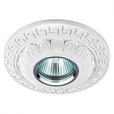 Гипсовый светильник SvDecor SV 7061 белый ф120 мм