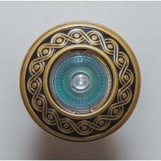 Гипсовый светильник SvDecor SV 7118 AB/L бронза ф96 мм