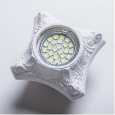 Гипсовый светильник SvDecor SV 7133 белый 95*95 мм