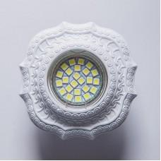 Гипсовый светильник SvDecor SV 7134 белый ф100 мм