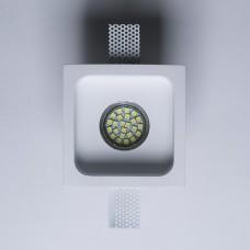 Гипсовый светильник SvDecor SV 7416 белый 120*120 мм под шпаклевку