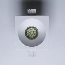 Гипсовый светильник SvDecor SV 7421 белый 120*120 мм под шпаклевку