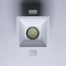 Гипсовый светильник SvDecor SV 7422 белый 120*120 мм под шпаклевку