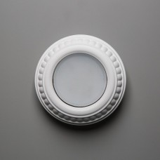 Гипсовый светильник SvDecor SV 7604 белый ф130 мм GX53