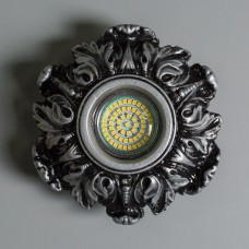 Гипсовый светильник SvDecor SV 7182 ASL серебро ф150 мм